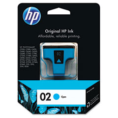 HP 02, (C8771WN) Cyan Original Ink Cartridge