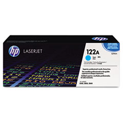 HP 122A, (Q3961A) Cyan Original LaserJet Toner Cartridge