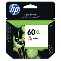 HP 60XL, (CC644WN) High Yield Tri-color Original Ink Cartridge