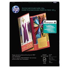 Inkjet Tri-Fold Brochure Paper, 103 Brightness, 48lb, 8-1/2 x 11, White, 100/PK