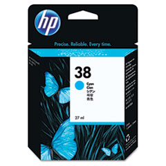 HP 38, (C9415A) Cyan Pigment Original Ink Cartridge