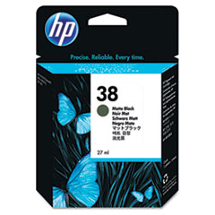 HP 38, (C9412A) Matte Black Pigment Original Ink Cartridge