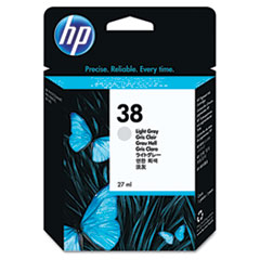 HP 38, (C9414A) Light Gray Pigment Original Ink Cartridge