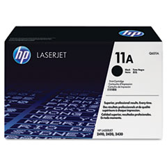 HP 11A, (Q6511A) Black Original LaserJet Toner Cartridge