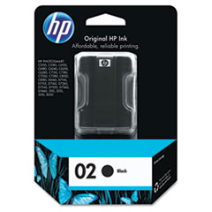 HP 02, (C8721WN) Black Original Ink Cartridge