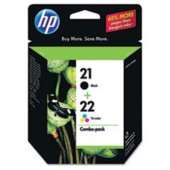 HP 21, (C9509FN) Black / HP 22, Tri-Color 2-pack Original Ink Cartridges