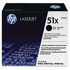 HP 51X, (Q7551X) High Yield Black Original LaserJet Toner Cartridge