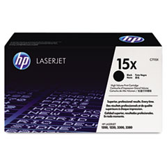 HP 15X, (C7115X) High Yield Black Original LaserJet Toner Cartridge