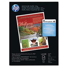 Color Laser Brochure Paper, 98 Brightness, 40lb, 8-1/2 x 11, White, 150 Shts/Pk