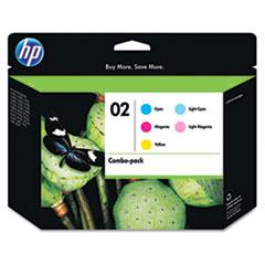 HP 02, (CC604FN) 5-pack, Cyan/Magenta/Yellow/Lt Cyan/Lt Magenta Original Inks