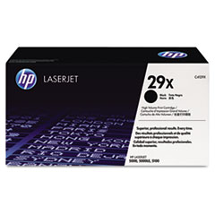 HP 29X, (C4129X) High Yield Black Original LaserJet Toner Cartridge