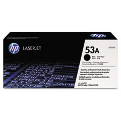 HP 53A, (Q7553A) Black Original LaserJet Toner Cartridge