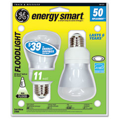 Compact Fluorescent Bulb, 11 Watt, R20 Reflector, Soft White, 2/Pack