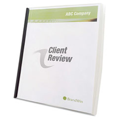 Slide 'n Bind Report Cover, Letter Size, Clear, 10/Box GBC67504