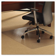Cleartex Ultimat Chair Mat for Plush Pile Carpets, 53 x 48, Clear