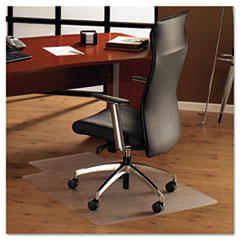 ClearTex Ultimat Polycarbonate Chair Mat for Hard Floors, 48x53, With Lip, Clear FLR1213419LR