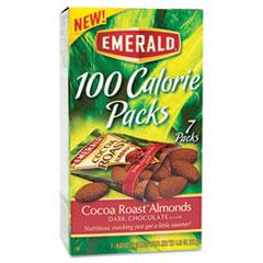 100 Calorie Pack Dark Chocolate Cocoa Roast Almonds, .63oz Packs, 7/Box DFD84325