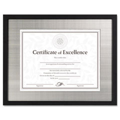 Contemporary Wood Frame, Silver Metal Mat, 11 x 14, 8 1/2 x 11, Black