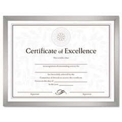 Value U-Channel Document Frame w/Certificates, 8-1/2 x 11, Silver DAXN17002N