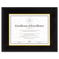 HARDWOOD DOCUMENT/CERTIFICATE FRAME W/MAT, 11 X 14, BLACK