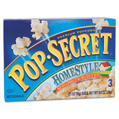 Microwave Popcorn, Homestyle, 3.5oz Bags, 3/Box DFD24680