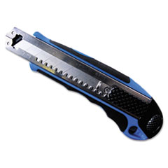 Heavy-Duty Snap Blade Utility Knife, Four 8-Point Blades, Retractable, Blue COS091514
