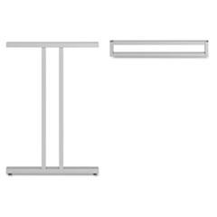 """Leg Kit-Dog Leg for 24""""H Storage Momentum: Silver BSH34TSLEGSV03"""