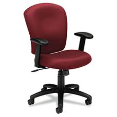 VL220 Series Mid-Back Task Chair, Burgundy BSXVL220VA62
