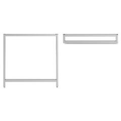 """Leg Kit-Rectangular Desk for 24""""H Storage Momentum: Silver BSH34OSLEGSV03"""