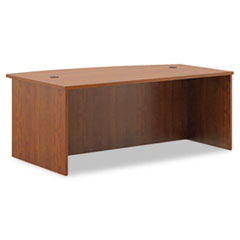 BL Laminate Series Bow Front Desk Shell, 72w x 42w x 29h, Medium Cherry