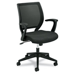 VL521 Series Mid-Back Work Chair, Mesh Back, Fabric Seat, Black BSXVL521VA10