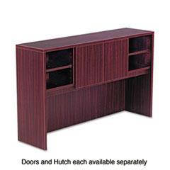 Alera Valencia Series Hutch Doors, Laminate, 14w x 3/4d x 15h, Mahogany, 2/Set