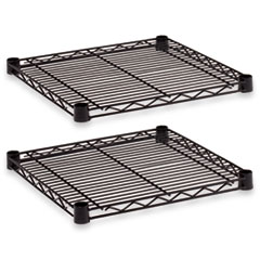 Industrial Wire Shelving Extra Wire Shelves, 18w x 18d, Black, 2 Shelves/Carton ALESW581818BL