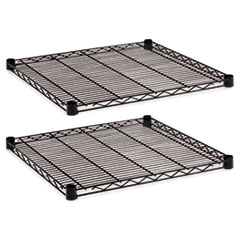 Industrial Wire Shelving Extra Wire Shelves, 24w x 24d, Black, 2 Shelves/Carton ALESW582424BL