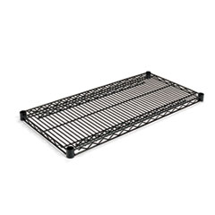 Industrial Wire Shelving Extra Wire Shelves, 36w x 18d, Black, 2 Shelves/Carton ALESW583618BL
