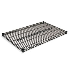 Industrial Wire Shelving Extra Wire Shelves, 36w x 24d, Black, 2 Shelves/Carton ALESW583624BL