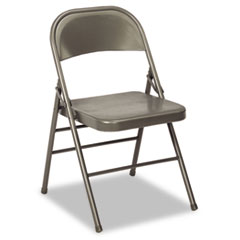 60-810 Series All Steel Folding Chairs, Dark Gray, 4/Carton CSC60810DGR4
