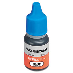ACCU-STAMP Gel Ink Refill, Blue, 0.35 oz Bottle