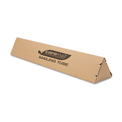 Triangular Mailing Tube, 36l x 6w x 4h, Brown, 12/Pack