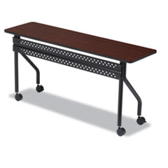 Iceberg OfficeWorks Mobile Training Table, Rectangular, 72w x 18d x 29h, Mahogany/Black ICE68068