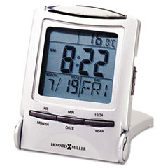 """Distant Time Traveler Alarm Clock, 2-1/4"""", Silver, 1 AAA (incl) MIL645358"""