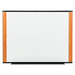 Melamine Dry Erase Board, 48 x 36, Light Cherry Frame
