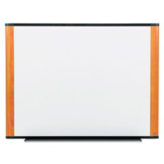 Melamine Dry Erase Board, 72 x 48, Light Cherry Frame