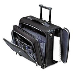 Side Loader Office Rolling Laptop Case, Nylon, 17 1/2 x 7 1/2 x 15, Black
