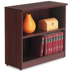 Valencia Series Bookcase, Two-Shelf, 31 3/4w x 14d x 29 1/2h, Mahogany ALEVA633032MY