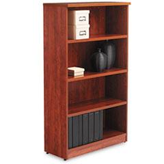 Alera Valencia Series Bookcase, Four-Shelf, 31 3/4w x 14d x 55h, Medium Cherry