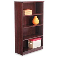 Alera Valencia Series Bookcase, Four-Shelf, 31 3/4w x 14d x 55h, Mahogany