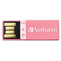 Clip-It USB 2.0 Flash Drive, 4GB, Pink