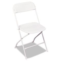 Stack Rental Folding Chair, Resin, White, 4/Carton