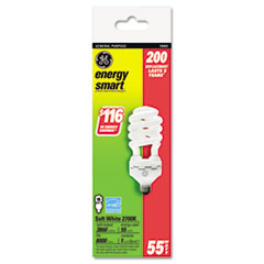 Energy Smart Compact Fluorescent Spiral Light Bulb, 55 Watts